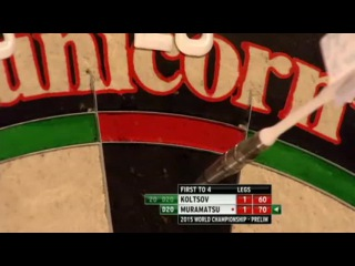 Boris Koltsov vs Haruki Muramatsu (PDC World Darts Championship 2015 / Preliminary Round)