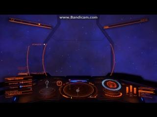 EliteDangerous полет возле черной звезды, в туманности