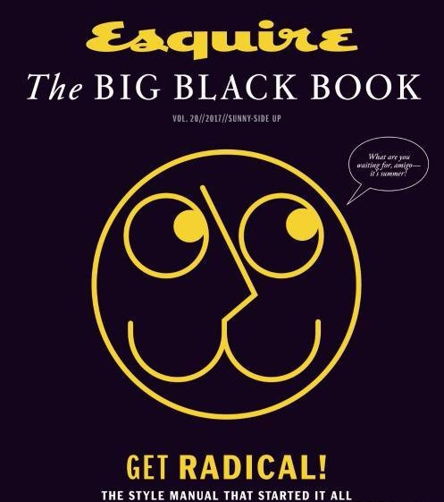 Book cover Esquire USA The Big Black Book SpringSummer 2017