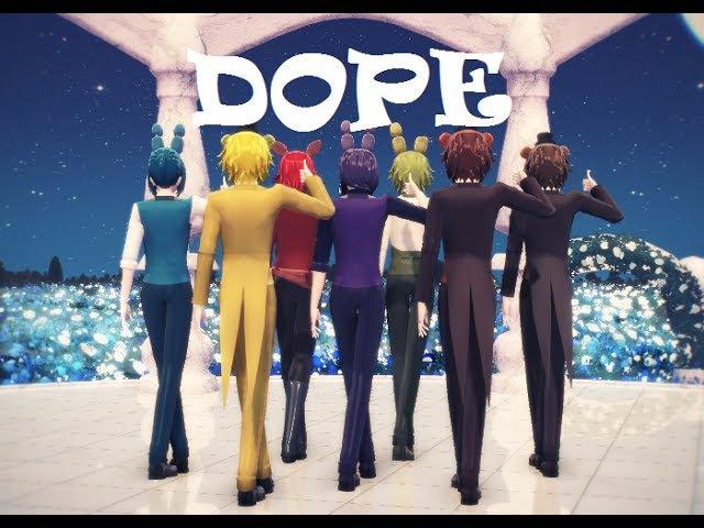 MMD FNAF BTS Dope Freddy Bonnie Foxy 2160p60 4k