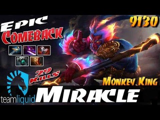 Miracle- [Monkey King] Epic Comeback 9130 MMR Liquid Ranked Gameplay - Dota 2