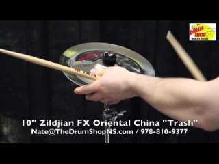 "Zildjian FX Oriental China ""Trash"" 10'' - The Drum Shop North Shore"