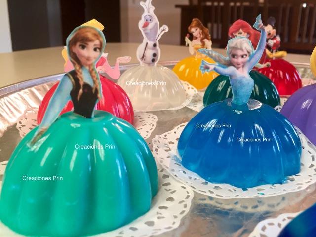Gelatinas de princesas. individuales