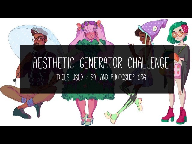 Aesthetic Generator Challenge Speed Paint