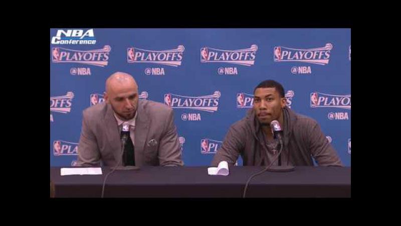 Marcin Gortat Otto Porter Interview | Celtics vs Wizards | Game 3 | May 4, 2017 | NBA Playoffs