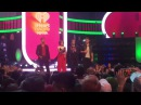 Alessia with Joe Jonas, Kat Graham and Brandon Flynn at MMVAs stage