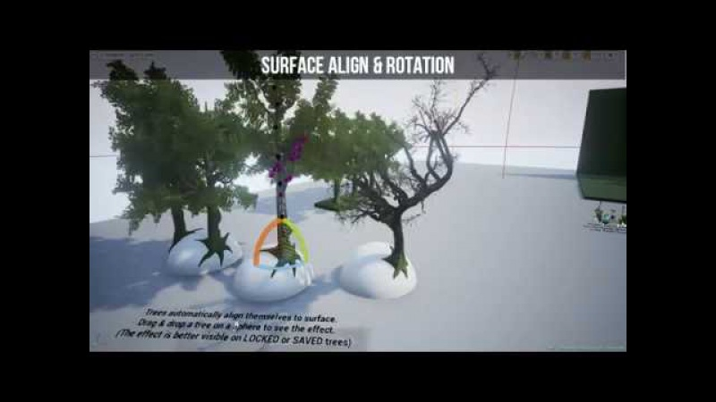 Dynamic Tree Plant Generator for Unreal Engine 4 NEW