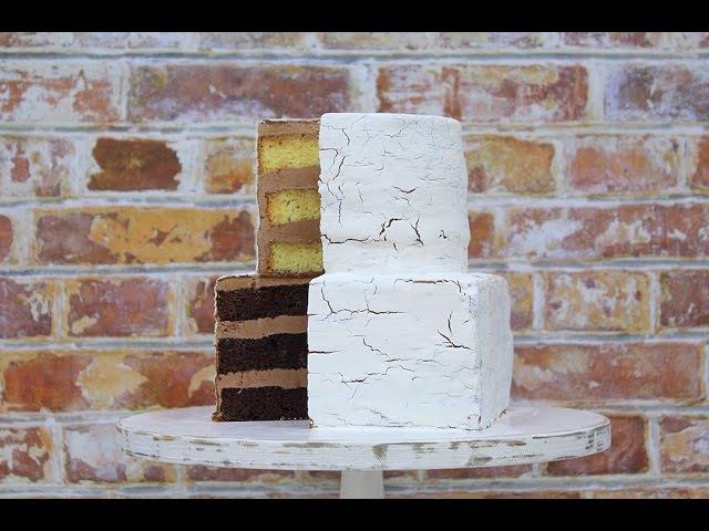 Бисквитный торт Кракелюр Craquelure Cake