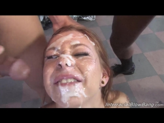 [interracialblowbang] scarlett pain [hd 720, blowjob, blowbang, slut, ir, sex, group, cumshot, sperm, facial, bukkake]