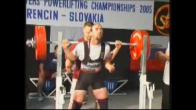 Wolfgang A. Prückl, 9. Platz Masters-Europameisterschaft im Kraftdreikampf 2005 (Trencin/Slowakai)