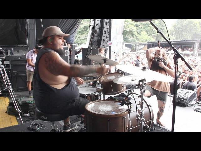Silent Planet Panic Room Alex Camarena Drum Cam Van's Warped Tour 2017 Atlanta GA