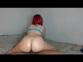 Big booty red head rides hard cock until tight pussy gets pussy filled! big ass butts booty tits boobs bbw pawg curvy mature m