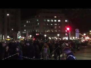 В Бильбао проходит митинг против болельщиков Спартака. Фанатов красно-белых на