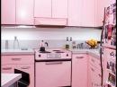 Розовый цвет кухни красиво и необычно