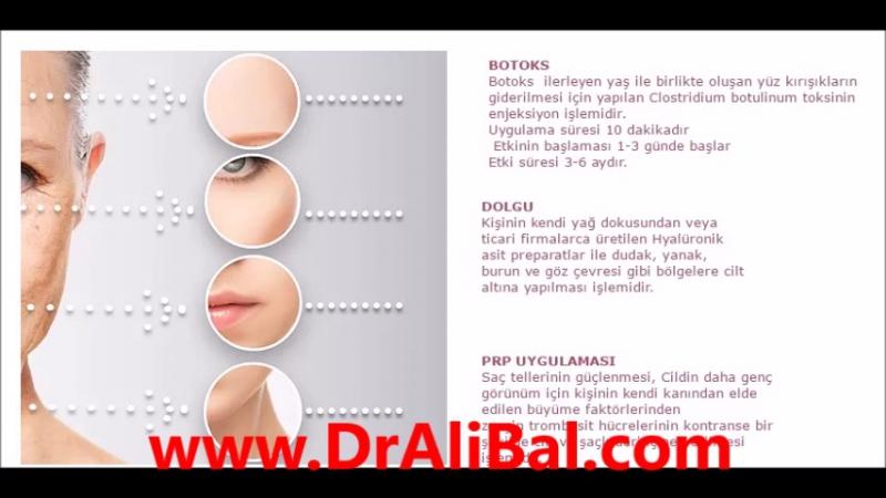 Botoks, Dolgu, PRP uygulaması | DrAliBal.com