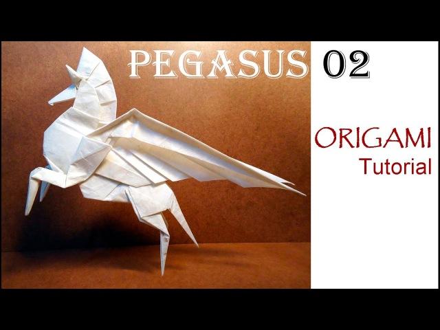 Origami Pegasus 02 Tutorial Fumiaki Kawahata 折り紙 ペガサス 馬 оригами учебник Пегас лошадь Pferd
