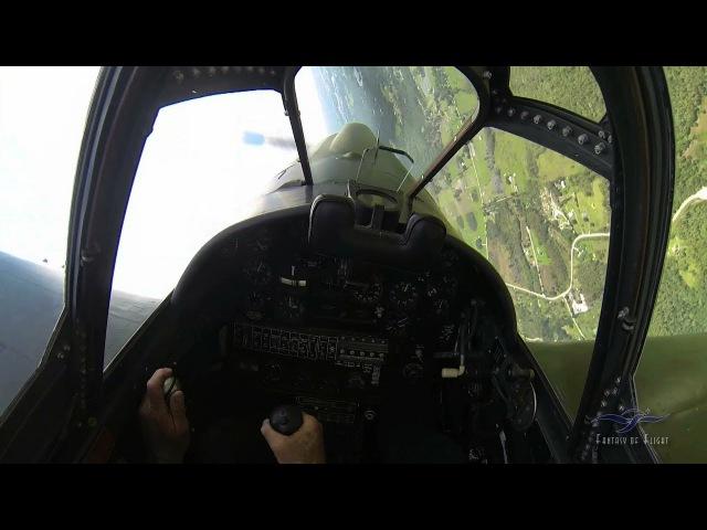 Curtiss TP-40 - Part 3 - Flight w/Cockpit Audio - Kermie Cam