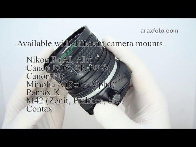 ARAX 2 8 35mm Tilt Shift lens for Canon Nikon and more