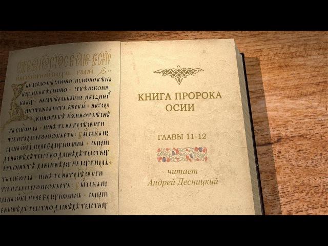 Книга пророка Осии. Главы 11-12. Библия. Профессор Андрей Десницкий.