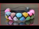 Как плести двойной браслет Шамбала How to weave bracelet double Shamballa