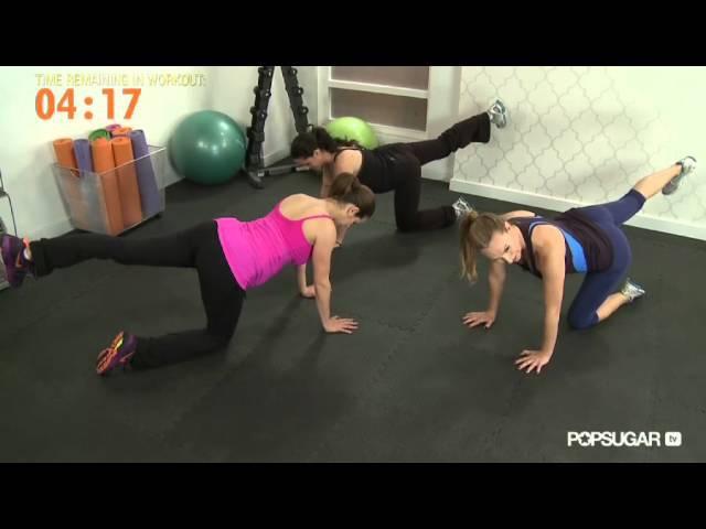 Тренировка Хайди Клум для беременных от Андреа Орбек Фитнес Heidi Klum Prenatal Workout Andrea Orbeck Fitness Class FitSugar