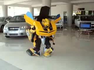 Трансформер в авто-салоне)