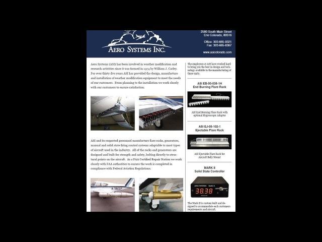 2017 ONEALEARTH 1974 Aero System Ice Flare Cartridge Acetone Silver Iodide Generator