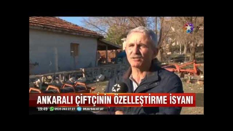 Özelleştirmeye isyan eden Ankaralı çiftci kürsüye nasıl çıktığını anlattı
