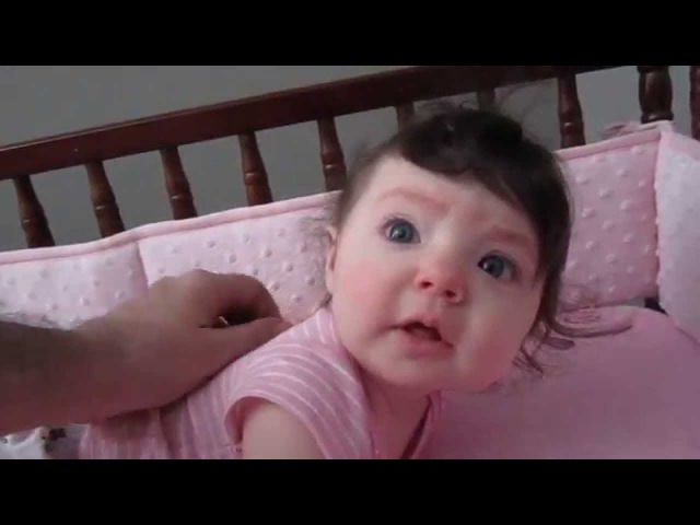 Everly Thomas waking up at 6 months old Feb 6th 2015