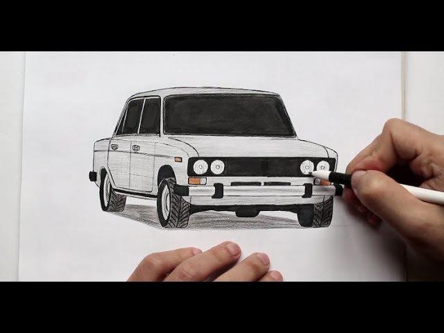 ❤️ Как нарисовать машину ВАЗ 2106 поэтапно❤️ Ehedov Elnur VAZ 2106 nece cekilir