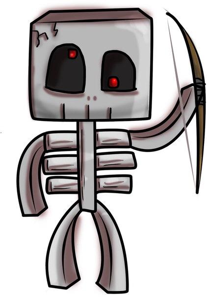 как нарисовать скелета из майнкрафт #8