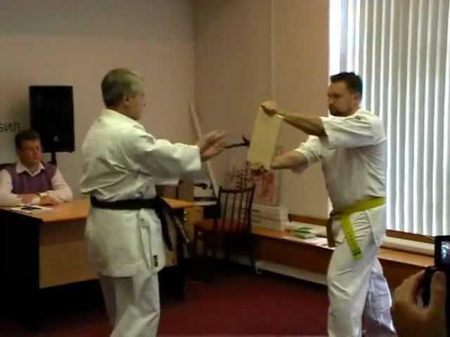 Uechi ryu Karate do TAMESHIWARI NUKITE SOKUSEN GERI HAITO UCHI