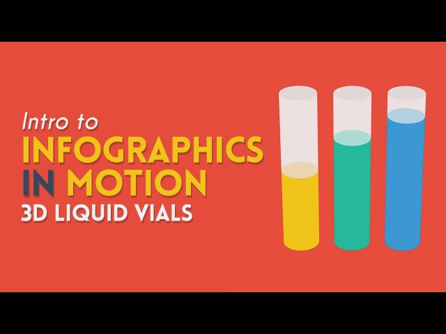 Intro to Infographics in Motion Liquid Vials Bar Charts After Effects Tutorial