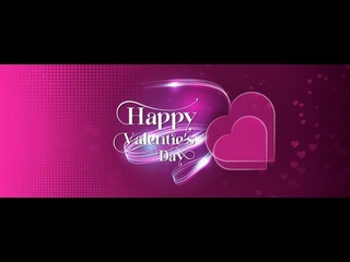 Happy Valentine's Day Facebook Page Cover design in Illustrator cc