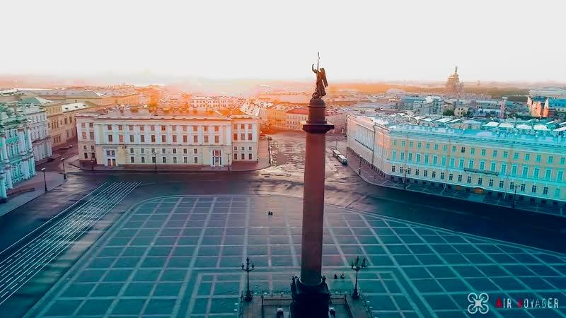 Санкт Петербург с высоты Белые ночи разводные мосты Нева