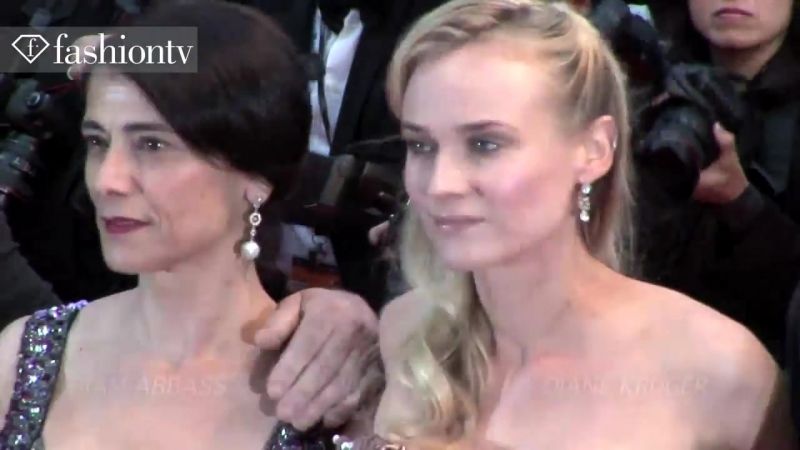 Diane Kruger Hiam Abbass Isabelle Huppert Amour Red Carpet Cannes 2012