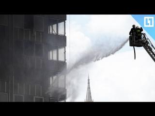Спасатели тушат самое высокое здание в Омске