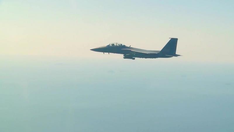 Учебные стрельбы F-15K ВВС Южной Кореи ракетами Taurus KEPD 350K