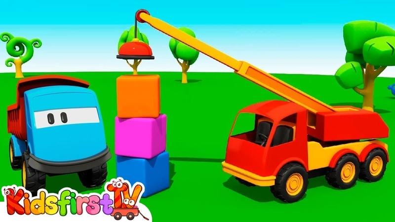 Leo the Truck a crane. Cars games.