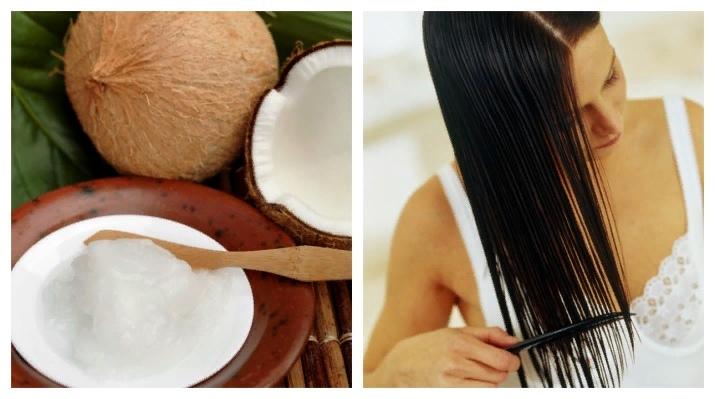 Кокосовое масло хорошо влияет на кожу головы, улучшает кровообращение, стимулирует рост волос