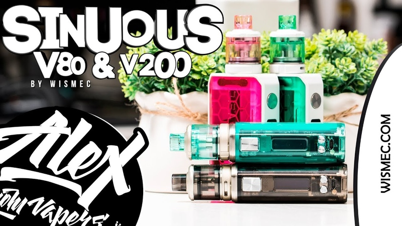 SINUOUS V80 V200 l by Wismec l Alex VapersMD review 🚭🔞