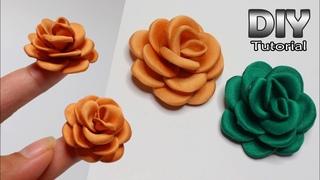 DIY - TINY ROSE Satin Velvet Fabric | Mawar dari kain satin | Bunga kain | Handmade bros