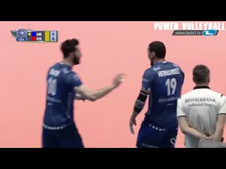 When volleyball players celebrate too early (hd)