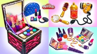Play Doh Makeup Set How to Make Eyeshadow, Lipstick, Nail Polish, Hair Salon. Video Compilation 💄