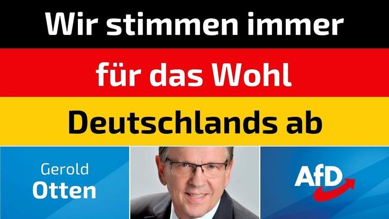 Gerold Otten (AfD) - Wir stimmen immer für das Wohl Deutschlands ab
