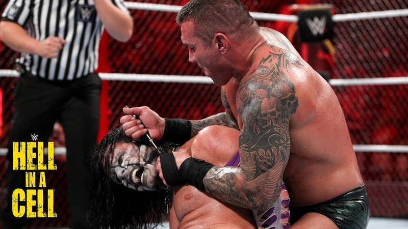 Randy Orton ruthlessly twists Jeff Hardy s earlobe with a screwdriver: WWE Hell in a Cell 2018