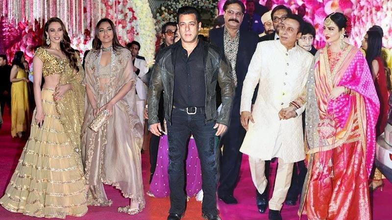 Salman Khan's SH0CKING Surprise Entry At Friend Azahr Morani's WEDDING Reception Pandal