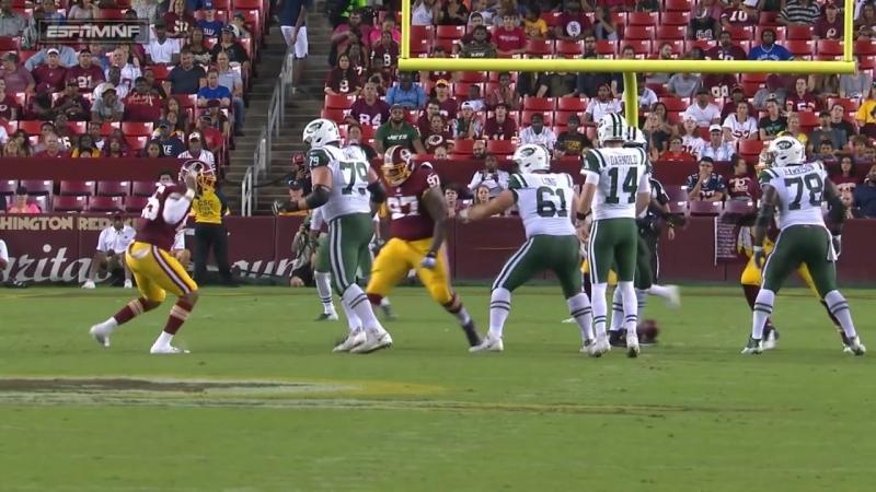 Every Sam Darnold Play vs. Redskins