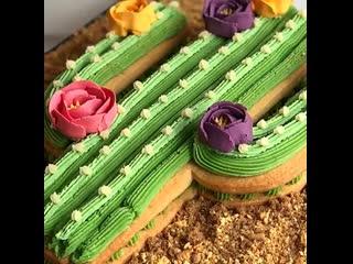 """Как сделать торт """"Кактус"""". / наша группа в ВК: """"Торты на заказ. Мировые шедевры""""."""