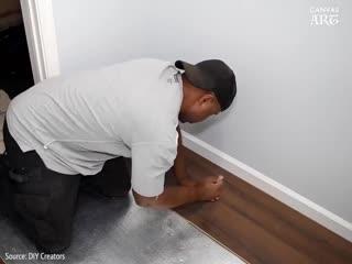 Парень сделал ремонт в гардеробной для родителей